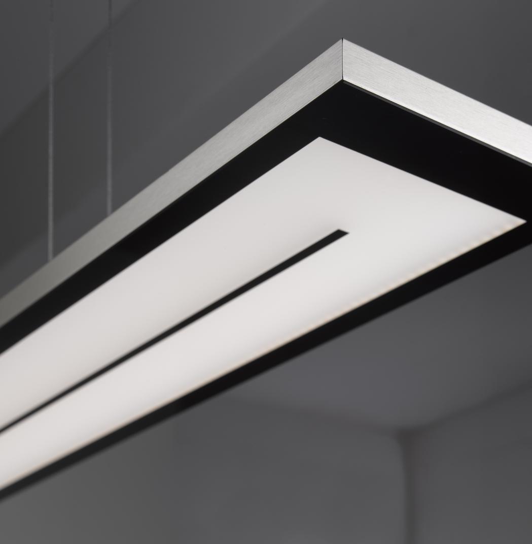 EVOTEC LED Pendelleuchte Zen. Aluminium U0026 Nickel Gebürstet ...